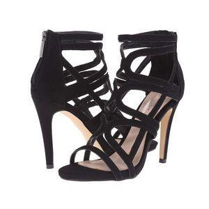 Aldo Carminati Strappy Suede Black Heels